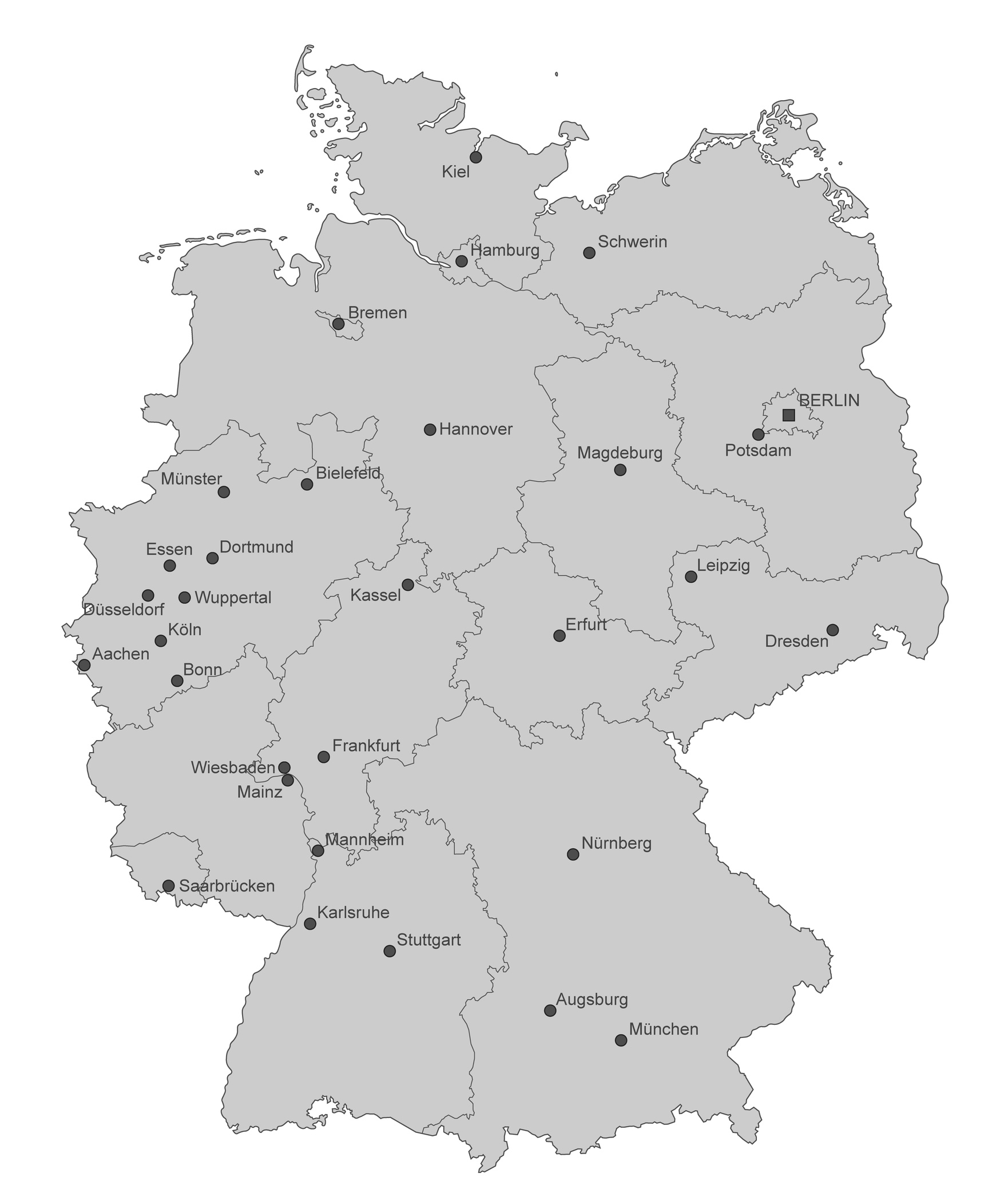 Köln Karte Deutschland.Karte Von Deutschland Stdte Einzeln Selfiebus Dein Fotobus